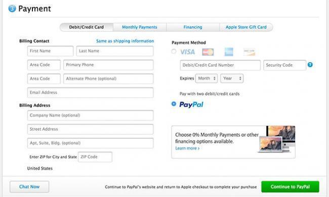PayPal se integra como opción de pago para la tienda en línea de Apple en EE.UU. y Reino Unido