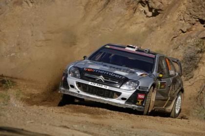 Petter Solberg entrena el Rally de Portugal probando un Fórmula 1