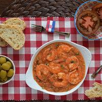 Cocina de Croacia: Škampi na buzaru o gambas en salsa de tomate