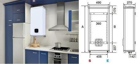 Fleck Duo, el termo eléctrico que cabe dentro de un mueble de cocina