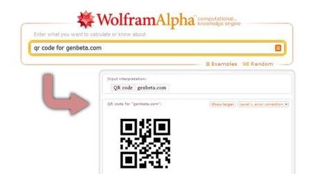 Crea tus códigos QR con Wolfram Alpha