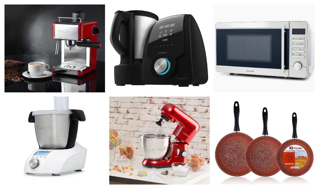 Las mejores ofertas en electrodomésticos para la cocina previas al Día del Soltero 2019 de eBay: robots de cocina, hornos, microondas...