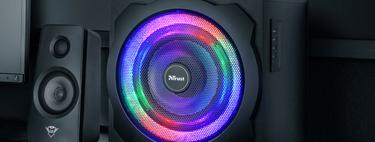 Los potentes altavoces Trust Gaming GXT 629 Tytan están a su precio mínimo histórico en Amazon: 69 euros y con iluminación RGB