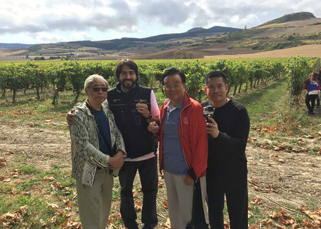 Chinos visitando viñedos
