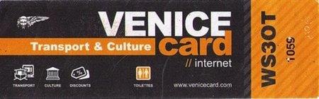 VeniceCard, tarjeta de descuentos y beneficios en Venecia