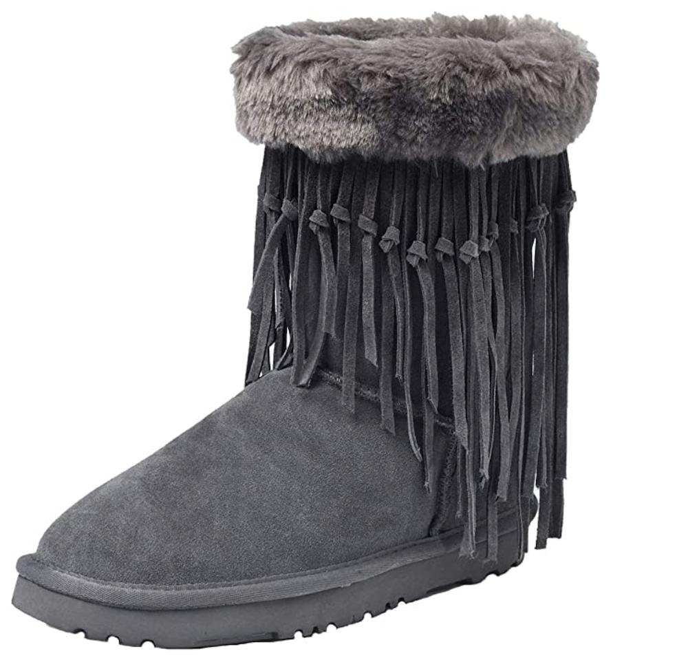 Shenduo Zapatos Invierno Clásicos - Botas de Nieve de Cuero Moda para Mujer DA5835