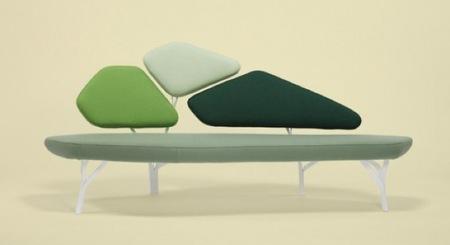 Un sofá inspirado en un árbol