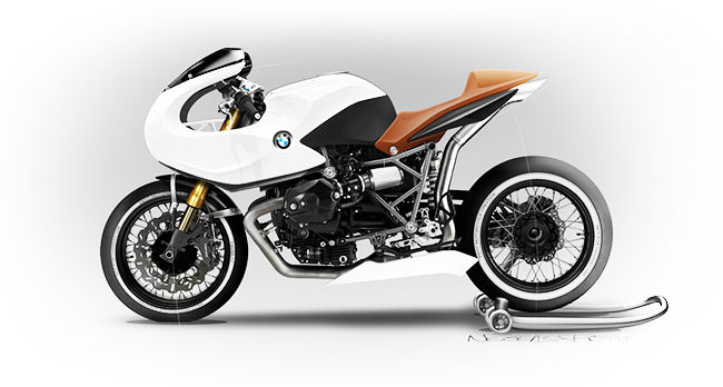 BMW R12 Café Racer Nicolas Petit