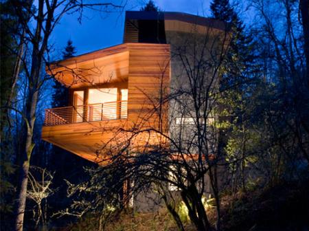 Los exteriores de la casa de los Cullen.