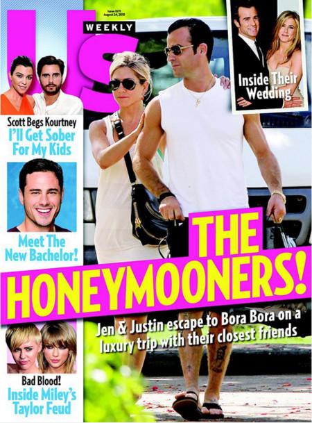 Jen y Justin, de luna de miel