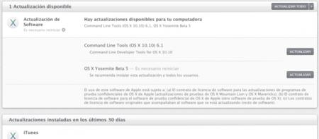 Apple lanza OS X Yosemite GM 2.0 para desarrolladores y Beta 5