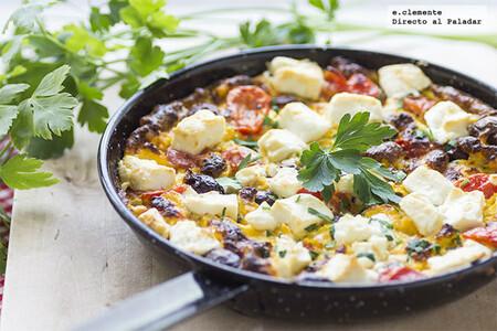 Receta fácil de sartén de ensalada griega