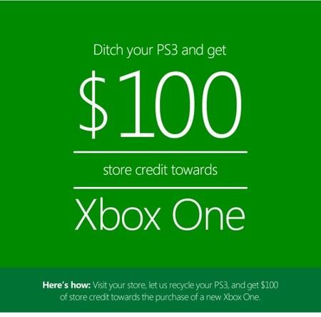 Microsoft hace descuentos de 100 dólares en Xbox One a cambio de una PS3