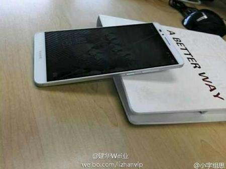 Huawei Ascend Mate 7 posa para la cámara