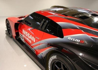 Decoración del Nissan GT-R para el Super GT