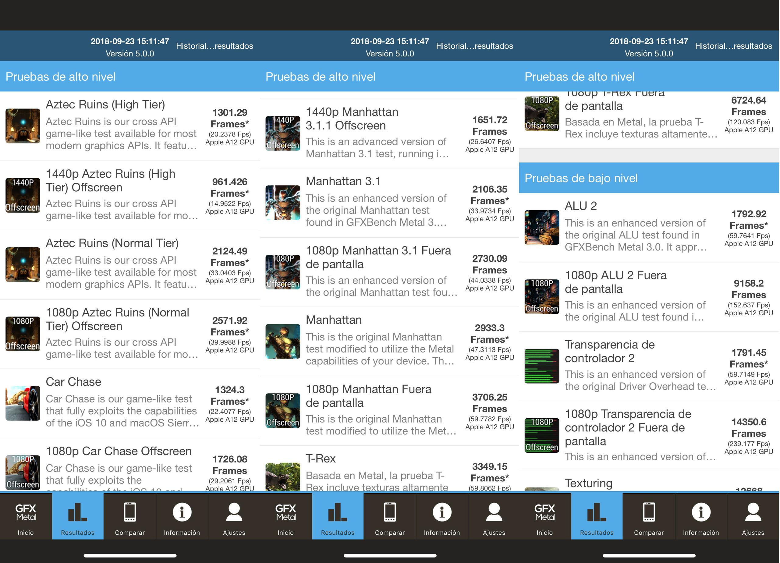 Foto de iPhone XS, benchmarks (5/8)