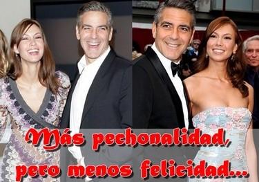 George Clooney dejó a su novia por aumentar sus pechos