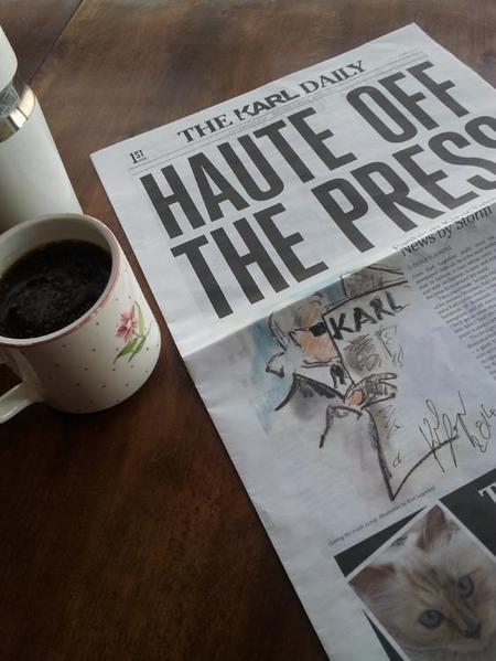 The Karl Daily, el nuevo periódico en papel de Karl Lagerfeld