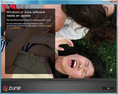 El Zune no es compatible (por ahora) con el Vista