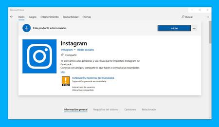 La aplicación de Instagram de la Microsoft Store se convierte en una PWA completa