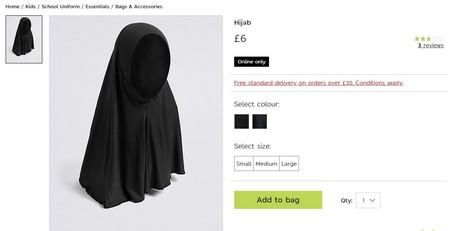 En Reino Unido están haciendo boicot a Marks & Spencer por poner a la venta hijabs para los uniformes escolares
