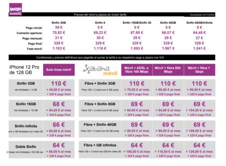 Precios Iphone 12 Pro De 128 Gb A Plazos Con Tarifas Yoigo