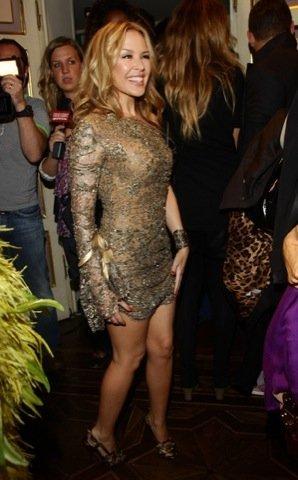 Kyle Minogue Semana de la Moda de Milán