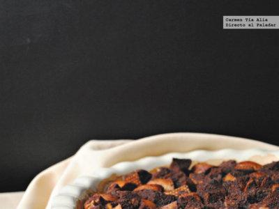 Cocoa bread pudding o pudin de pan al cacao. Receta de aprovechamiento