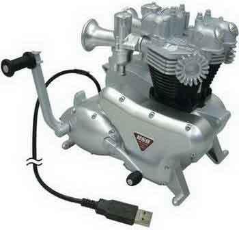 Hub USB 2.0 con forma de motor clásico