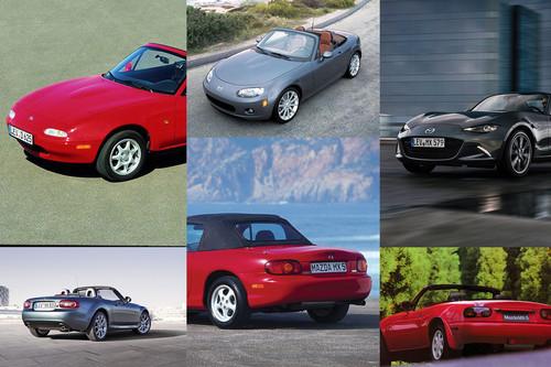 Historia del Mazda MX-5: Cuatro generaciones de diversión pura a un precio razonable