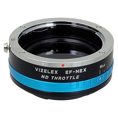 Fotodiox Vizilex ND Throttle, adaptador Canon EOS-Sony con filtro ND variable
