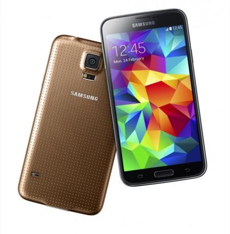 galaxy S5 dorado