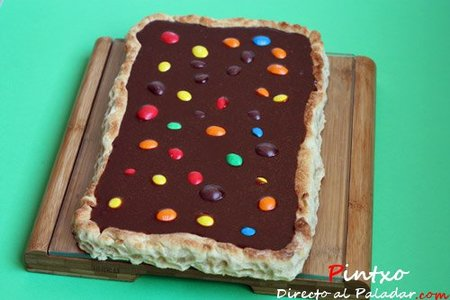 Tarta de chocolate y M&M´s. Receta