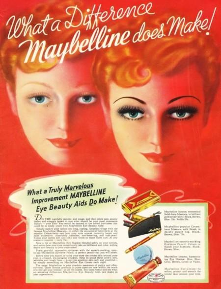 Los 100 años de Maybelline en la publicidad