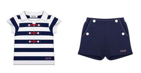 Colección Dior Dinar para bebés, un estilo marinero retro adorable