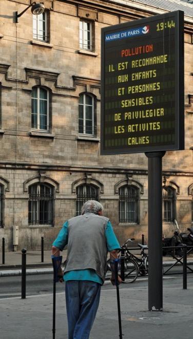 Advertencia por contaminación en París