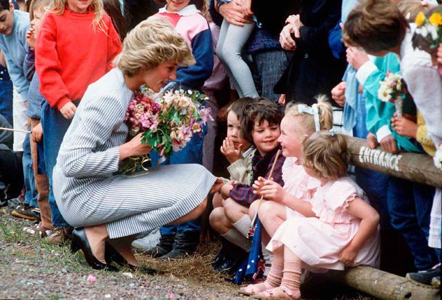 Diana de Gales actos benéficos