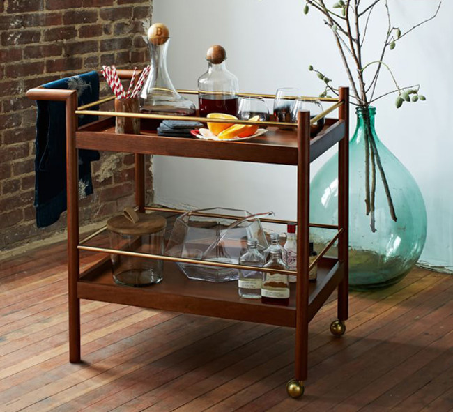 Mid Century Bar Cart