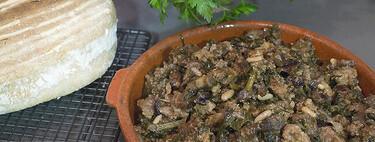Frito mallorquín de zanahoria morada, receta