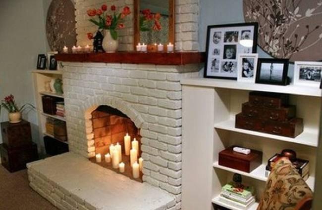 Una mala idea: llenar la chimenea de velas
