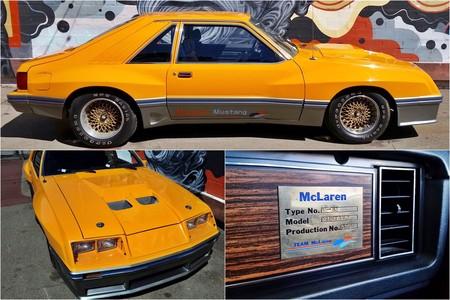 Sí, en los años 80 McLaren fabricó 10 extraños Ford Mustang como este que estás viendo