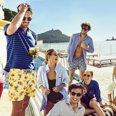 Los bañadores de Façonnable nos transportan a la Costa Azul gracias a sus aires marineros