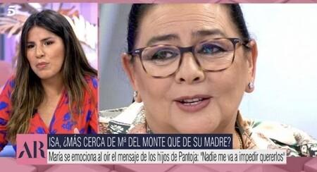 Isa Pantoja muestra su cariño hacia María del Monte