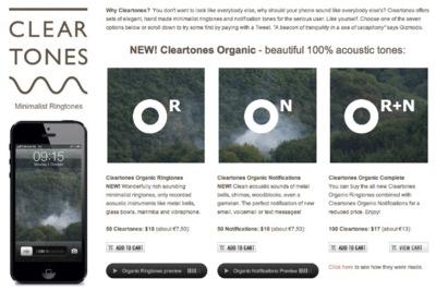 Cleartones, los tonos para iPhone que los minimalistas siempre han querido tener