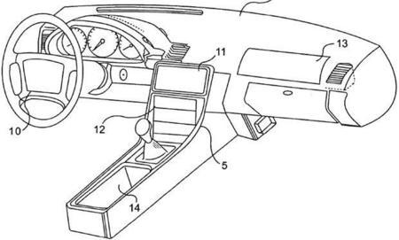 Patente de pantalla táctil en el coche mediante dispositivos Apple