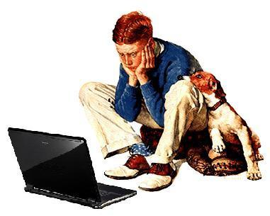 Adolescente utilizando Internet