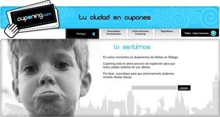 Cuponing: no hay ofertas para Málaga
