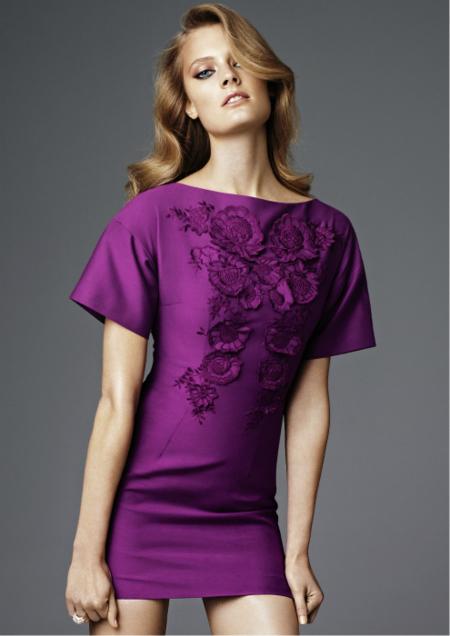 vestido morado H&M