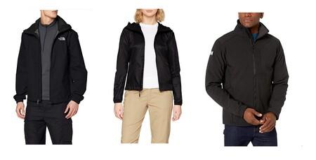 Chollos en tallas sueltas de abrigos y chaquetas The North Face, Helly Hansen y Columbia en Amazon