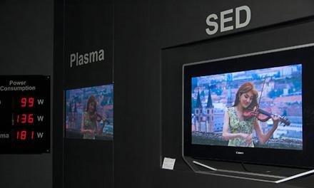 Toshiba fabricará pantallas SED de 55 pulgadas